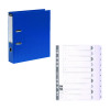Guildhall Lever Arch File A4 80mm Blue (Pack of 10) FOC 1-10 Mylar Dividers GH811500