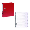 Guildhall Lever Arch File A4 80mm Red (Pack of 10) FOC 1-10 Mylar Dividers GH811501