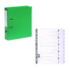 Guildhall Lever Arch File A4 80mm Green (Pack of 10) FOC 1-10 Mylar Dividers GH811502