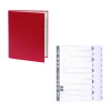Guildhall Ring Binder 30mm Red (Pack of 10) FOC 1-10 Mylar Dividers GH811505