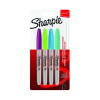 Sharpie 08 Permanent Marker Fun Fine Assorted Blister (Pack of 4) 1985859
