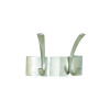 Safco Curve 2-Hook Coat Rack Silver 4203Sl