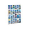 Safco Reveal Clear Pamphlet Display Rack 12xDL Pocket 5604CL