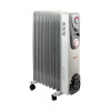 Oil Filled Radiator 2kW Timer Control White CR2T