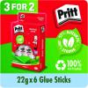 Pritt Stick Medium 22g Glue Stick (3 Packs of 6) 1456071
