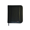 Monolith Black Leather-Look Zipped A4 Folio Case 2754