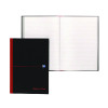 Black n Red Casebound Notebook A4 192 Pages Pk5 Buy 1 Get 1 Free JD831008