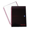 Black n Red Wirebound Hardback Notebook A4 Pk5 (2 Packs of 5) JD831010