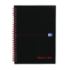 Black n Red Wirebound Hardback Notebook A5 (2 Packs of 5) JD831011