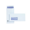Plus Fabric DL Envelopes Window Pocket Self Seal 120gsm White (Pack of 500) J26670