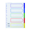 Concord Pastel A4 5-Part Reinforced Subject Divider 77099