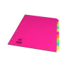 Concord 10-Part Subject Divider Bright A4 Assorted 50899