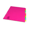 Concord 10-Part Subject Dividers Extra Wide Bright A4 Assorted (Pack of 20) 52299