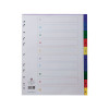 Concord Polypropylene A4 Index Extra Wide 1-10 Multicoloured 67199