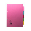 Concord Divider 5-Part A5 160gsm Pastel Colours 70599/J5