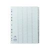 Concord Classic Index 1-10 A4 White Board Clear Mylar Tabs 00901/CS9