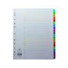 Q-Connect Multi-Punched 1-20 Reinforced Multi-Colour A4 Index Numbered Tabs KF01521