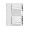 Q-Connect Multi-Punched 1-20 Reinforced White Board A4 Index Clear Tabbed KF01531