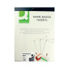 Q-Connect 54x90mm Name Badge Inserts 10 Per Sheet (Pack of 25) KF02289