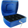 Q-Connect 10 inch Blue Cash Box KF02624
