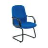 Avior Calabria Black Leather Look Operator Chair KF03434