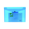 Q-Connect Polypropylene Document Folder A4 Blue (Pack of 12) KF03596
