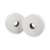2Work White 2-Ply Mini Jumbo Toilet Roll 200 Metres (Pack of 12) KF03811