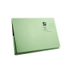 Q-Connect Long Flap Document Wallet Foolscap Green (Pack of 50) KF03931
