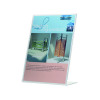 Q-Connect Slanted Sign Holder L-Shape A4 (Side loading, made from sturdy plastic) KF04177