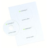 Q-Connect CD/DVD Label 2 per A4 Sheet (Pack of 100) KF05599