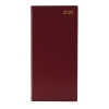 Portrait Slim Diary Week to View 2020 Burgundy KF1BG20