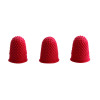 Q-Connect Red Rubber Thimblettes Size 00 Pack of 12 KF21507