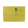 Q-Connect Foolscap Yellow Document Wallet (Pack of 50) KF23017