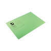 Q-Connect Green Square Cut Folder Lightweight 180gsm Foolscap (Pack of 100) KF26031