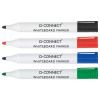 Q-Connect Drywipe Marker Pen Assorted (Pack of 4) KF26038