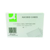 Q-Connect Record Card 6x4 Inches Ruled Feint White (Pack of 100) KF35205