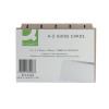 Q-Connect Guide Card 6x4 Inch A-Z Buff (Pack of 25) KF35208