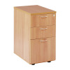 Jemini Beech 600mm 3 Drawer Desk High Pedestal KF72069