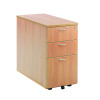 Jemini Beech 800mm 3 Drawer Desk High Pedestal KF72072