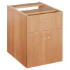Jemini 2 Drawer Beech Fixed Pedestal KF72075