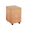 Jemini Beech 3 Drawer Mobile Pedestal KF72084