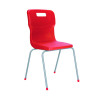 Titan Red Size 4 School Chair With 4 Legs KF72184