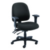 Avior Snowdon Heavy Duty Medium Back Chair With Lumbar Support Charcoal KF72252