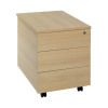 Jemini 3 Drawer Mobile Pedestal Ferrera Oak KF73519