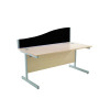 Jemini Wave 1400mm Black Desk Screen KF73924