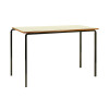 Jemini MDF Edge Beech Top Class Table With Black Frame 1200x600x760mm (Pack of 4) KF74555