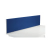Jemini Blue 1800mm Straight Desk Screen (Dimensions: 1800mm x 28mm x 400mm) KF78982