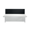 Jemini Black 1600mm Straight Mounted Desk Screen KF79001