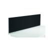 Jemini Black 1800mm Straight Mounted Desk Screen KF79002