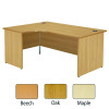 Jemini Maple Right Hand Panel End Radial Desk 1600mm KF838068